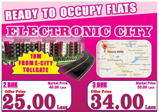 Ready to Occupy Flats in Bangalore by Dreamz GK